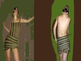 vestido rayas con escote en espalda