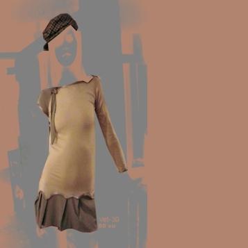 vestido mangas irregulares