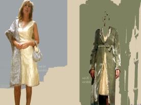 vestido con abrigo boda