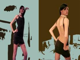 vestido escote espalda marron