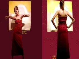vestido largo romantico