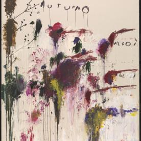 Quattro Stagioni: Autunno 1993-5 Cy Twombly 1928-2011 Purchased with assistance from the American Fund for the Tate Gallery and Tate Members 2002 http://www.tate.org.uk/art/work/T07889